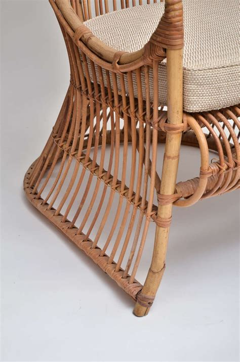 Bamboo Chair Cushion by Bamboo High Back Canopy Arm Chair With Upholstered Seat
