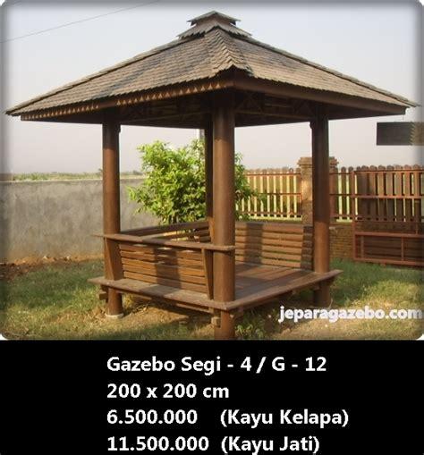 harga jual model gambar desain gazebo taman kayu gazebo