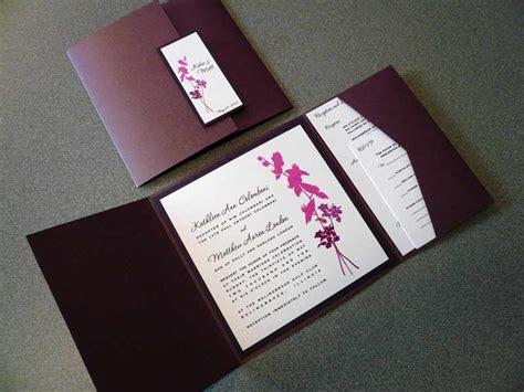 Purple Orchid Wedding Invitation Starglow Studios Orchid Wedding Invitation Template