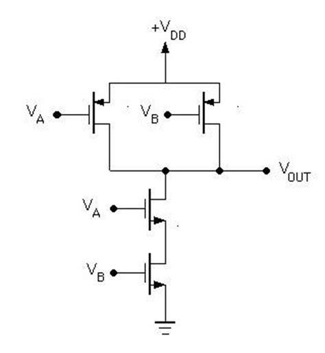 cmos transistor or gate nand gate operation ece tutorials