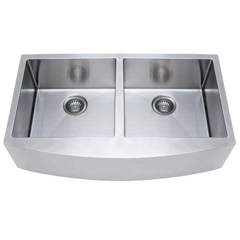 Shop Franke Usa Frankeusa 18 Gauge Double Basin Apron Franke Stainless Steel Kitchen Sinks