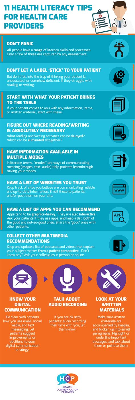 health literacy infographics phpr infographic 11 health literacy tips for providers