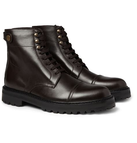 belstaff boots mens belstaff barrington rubbersole leather boots in brown for