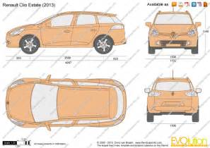 Renault Clio Dimensions 2013 The Blueprints Vector Drawing Renault Clio Estate
