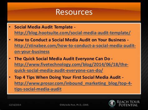 Performing A Social Media Audit Social Media Audit Template Hootsuite