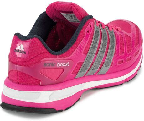 adidas adidas sonic boost ladies running trainers  pink lyst