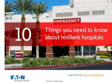 10 things need to learn finding 10 things you need to about resilient hospitals