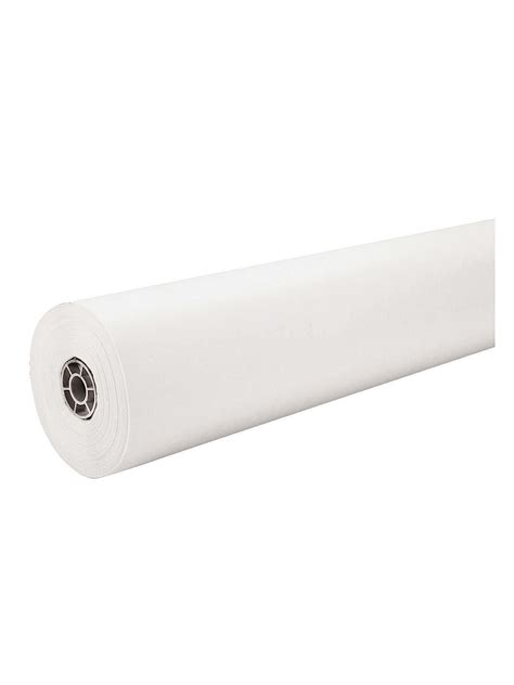 White Craft Paper Rolls - pacon kraft paper roll misterart