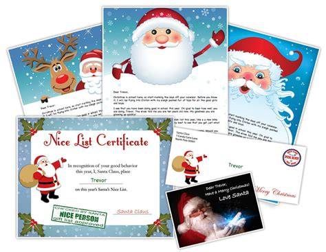 printable personalized letters from santa santa letter exle personalized letters from santa