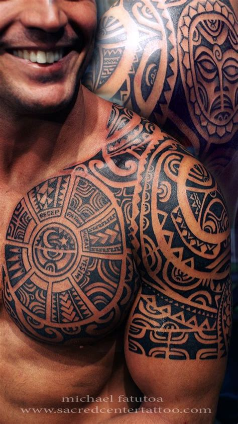 mens polynesian tattoo designs mens tribal chest chest tattoos for