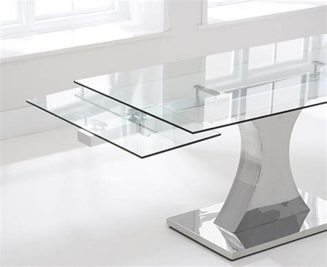 White Gloss Extendable Dining Table Ideas Of Extendable Glass Dining Tables And Chairs Dini And Home Design White Gloss Dining