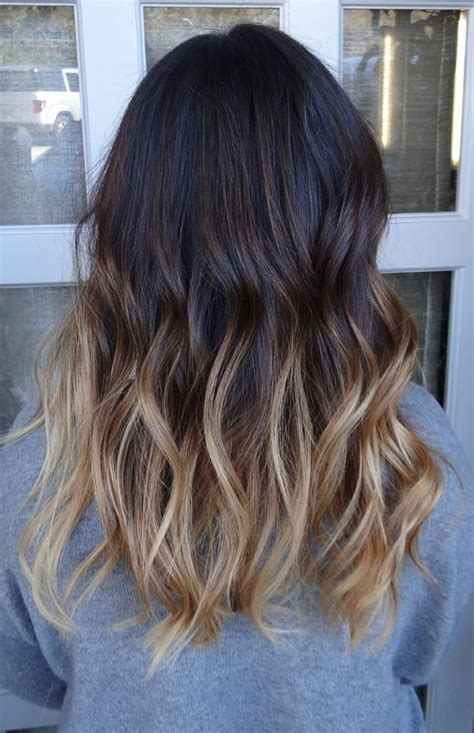 visually stimulating ombre hair color  brunettes highpe