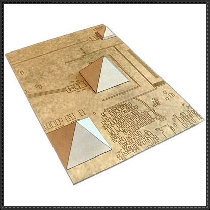 Papercraft Pyramid - new paper model giza necropolis pyramid free paper model