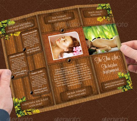 spa brochures templates ai psd docs pages