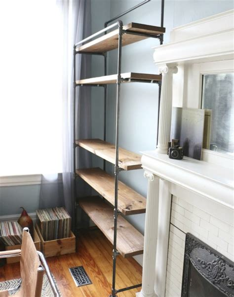 freestanding bookshelves how to make a freestanding industrial pipe bookcase ehow