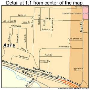 where is azle on the map azle map 4805168