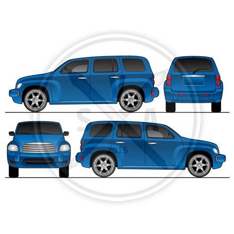 vehicle vector templates hhr wrap design template stock vector
