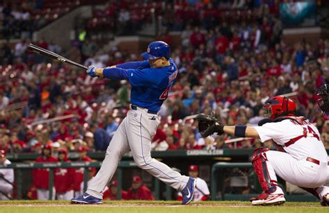 anthony rizzo swing anthony rizzo pictures chicago cubs v st louis cardinals