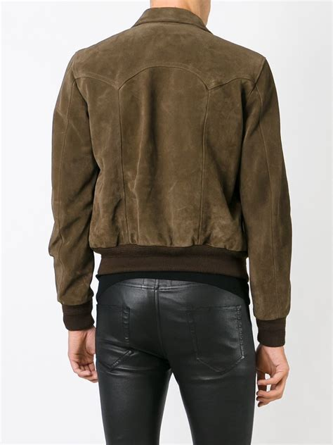Jacket Westren Style 5 laurent western style jacket in brown for lyst