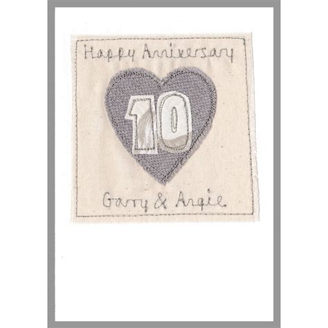 Personalised Wedding Anniversary Cards Uk by Personalised 10th Wedding Anniversary Card By Milly And
