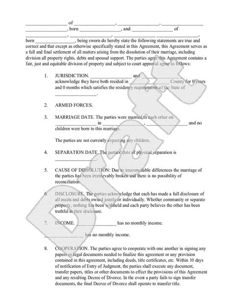 divorce agreement template canada 25 best ideas about divorce settlement agreement on