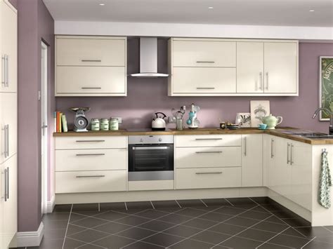 Orlando   Cream High Gloss kitchen   Wickes.co.uk