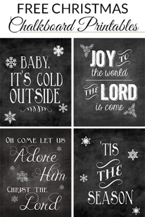 printable christmas quotes  chalk boards quotesgram