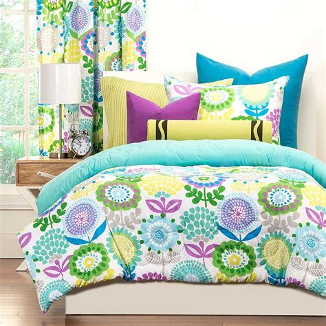 teen bed set crayola pointillist pansy comforter set blanket warehouse