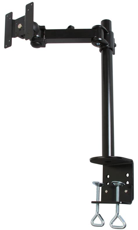 articulating monitor desk mount monmount articulating single lcd tv monitor mounting arm