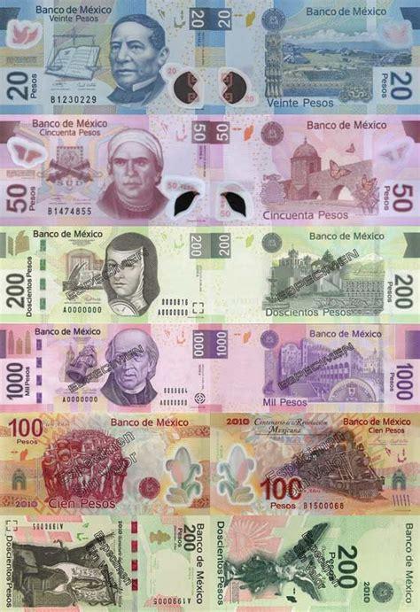 piso mexicano mexican peso coins paper money pinterest