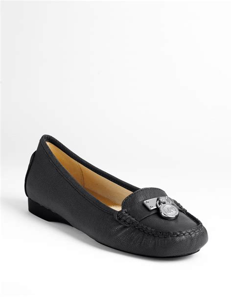 michael kors hamilton loafers michael michael kors hamilton leather loafer in black