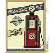 Gas Station Route 66 Stock Vector Image Of Auto
