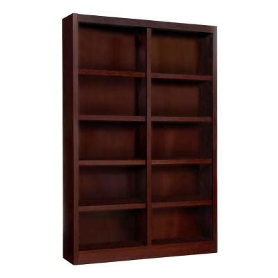 home depot bookshelves concepts in wood midas wide 10 shelf bookcase in
