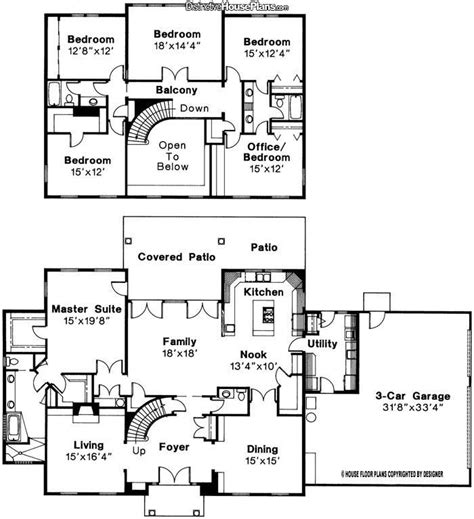 amazing house plans 4 bedroom plus office house plans amazing house plans