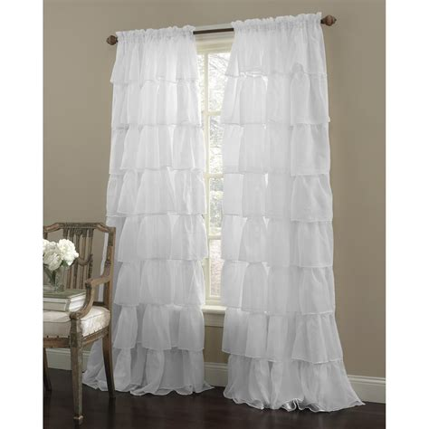 White Ruffle Curtains 99 Problems And Drop Cloth Curtains Are One The Sensible Home