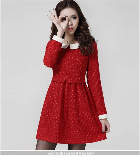 Dress Merah 02 mini dress merah import polkadot model terbaru jual