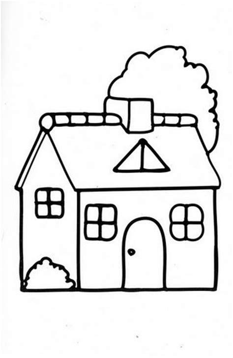 disegni casa disegni da colorare schede operative