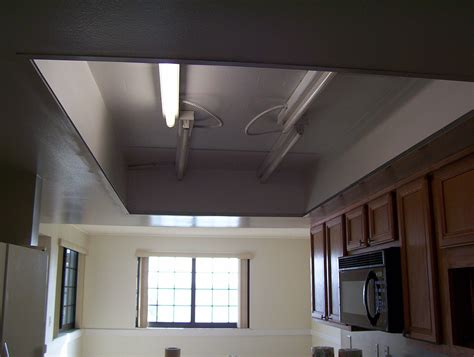 what to do with my kitchen drop ceiling lighting