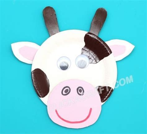 Paper Plate Cow Craft - paper plate cow craft ideas of paper plates