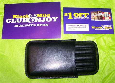 Black And Mild Giveaway - free black and mild cigar case and coupon free stuff times what i got