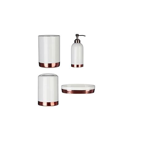 white bathroom accessories set delta set of 4 bathroom accessories set white on onbuy