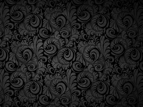 design patterns powerpoint black floral patterns free ppt backgrounds for your