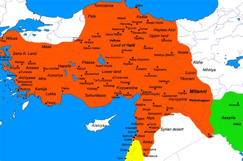 map of the empire egypt56 ramses ii hittite empire