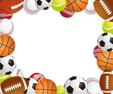 sport pattern background free sports ball frame free vector in adobe illustrator ai