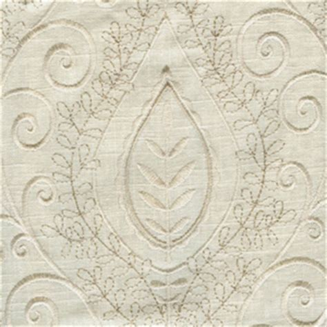 Embroidered Linen Drapery Fabric society hill bone ivory embroidered linen drapery fabric 47605