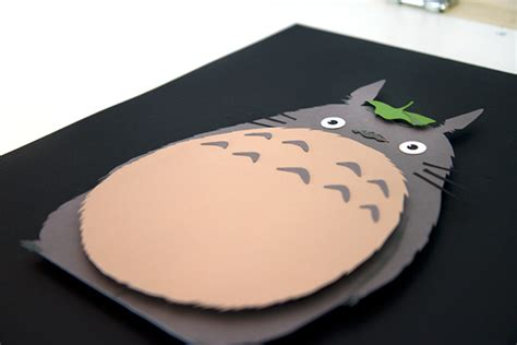 Totoro Papercraft - totoro studio ghibli cut 3d paper craft on behance