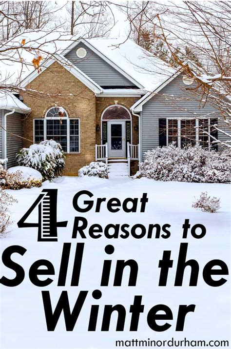 selling house four great reasons to sell your house in the winter