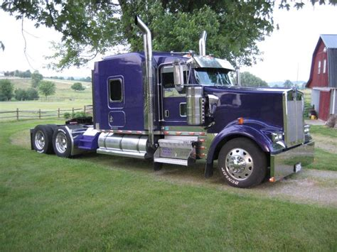 kw trucks purple kw 900l semis
