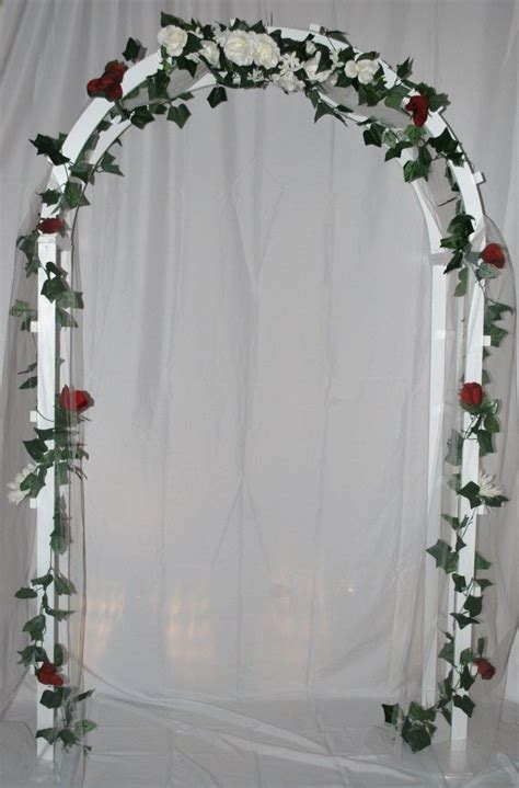Wedding Arch Cloth by Wedding Arch Decoration With White Cloth Wrapped