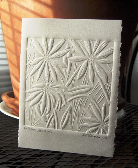 Embossed Craft Paper - a year of craft roxanne button kujawa paper embossing